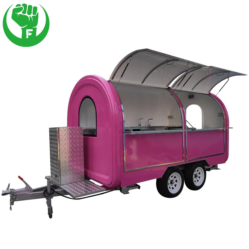Mobile Food Cart with Soft Serve Machine