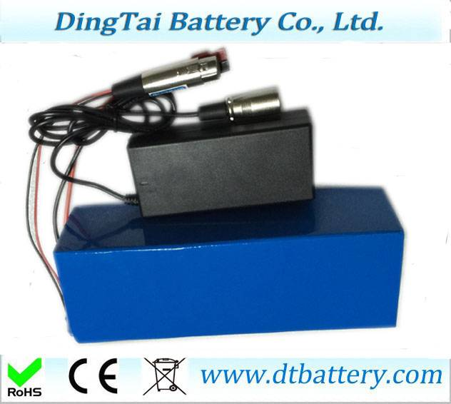 36v 17ah e-bike battery packs with charger by 10S5P 18650 3400mah cells