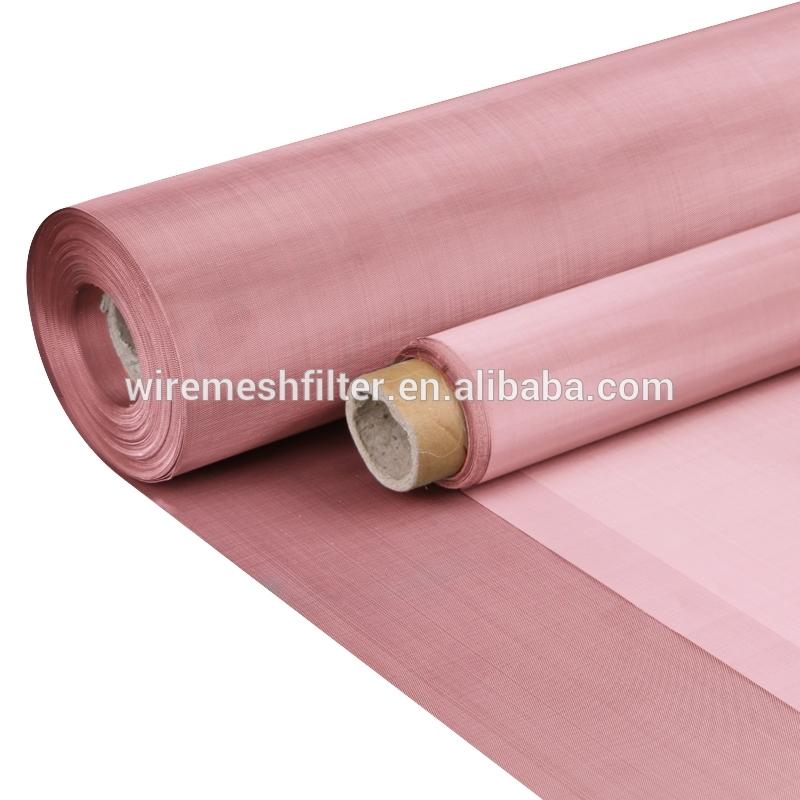 Electron beam filter copper fabric 30 20 10 micron 50 60 70 80 mesh 99.99 pure copper wire mesh