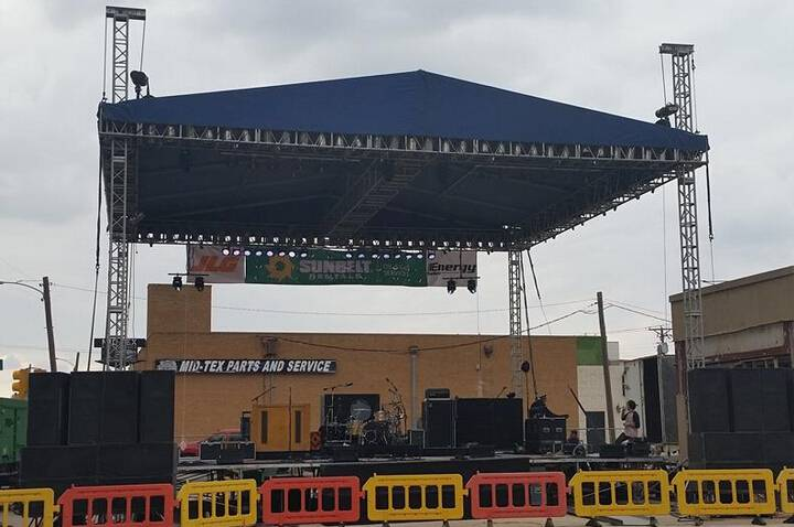 aluminum stage truss for outdoor big concert event