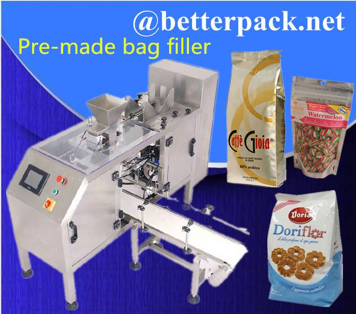 BT-250DM Pre-made pouch filling sealing machine for pillow bag, stand-up pouch and