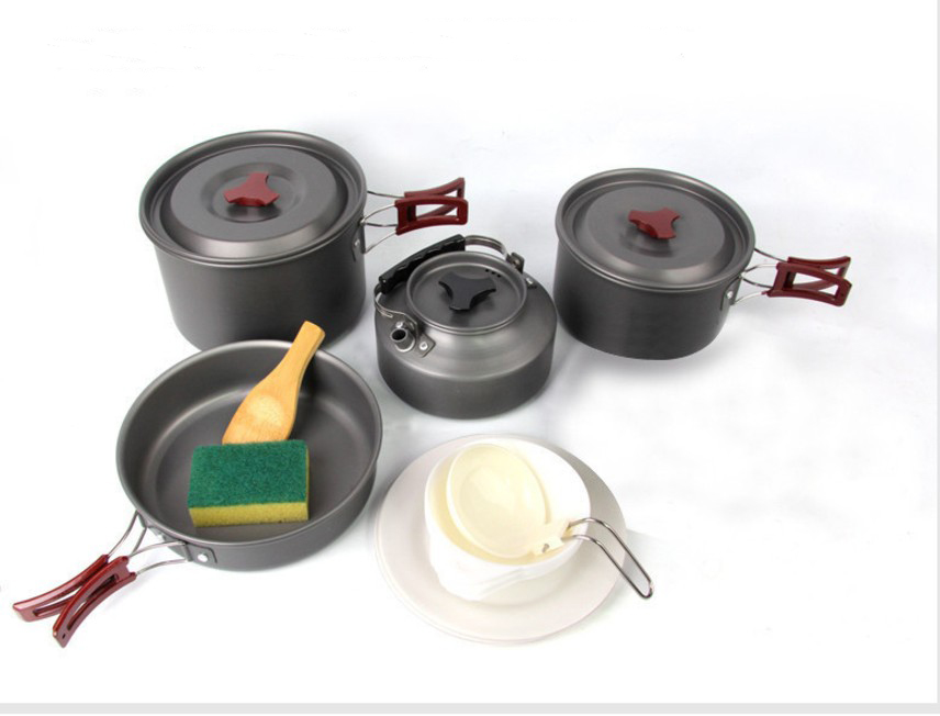 Outdoor camping 2-3 persons cooking set