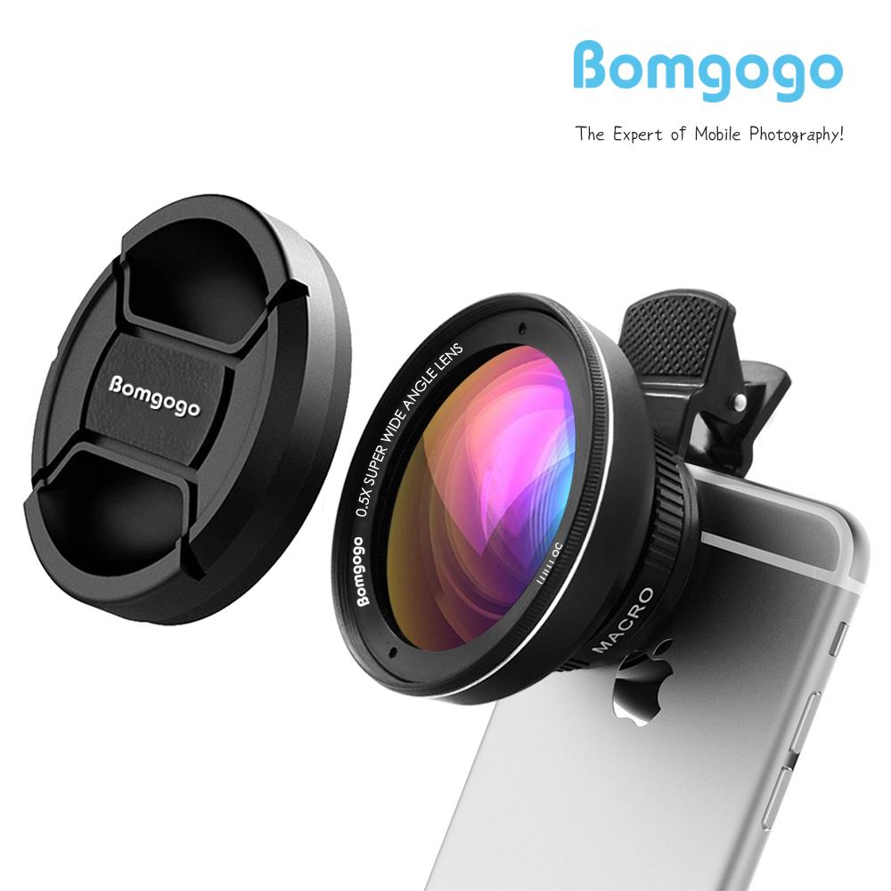 Bomgogo Govision L3 0.5X Wide Angle Lens + 15X Macro Mobile Camera Lens