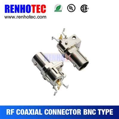 Right Angle Jack BNC Connector For PCB Mount