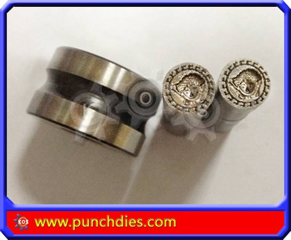 Normal steel round Versace pill dies for TDP-0 in stock
