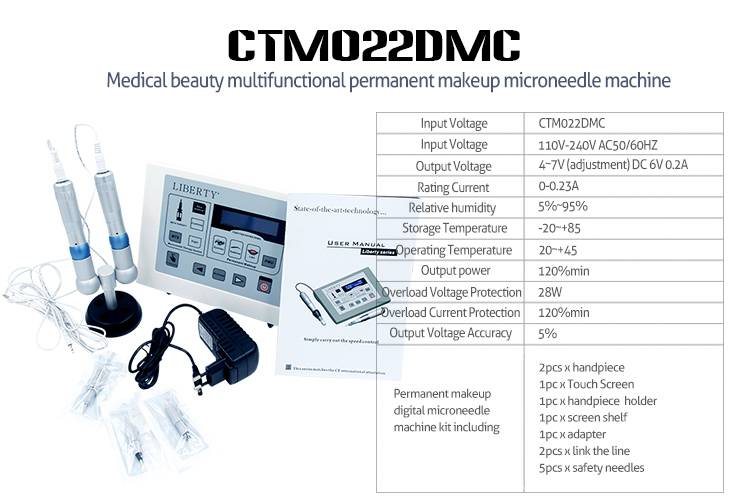Microneedles Eyebrow Tattoo Digital Permanent Makeup Machine
