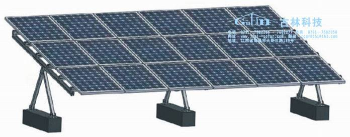 Solar ground adjustable mounting system