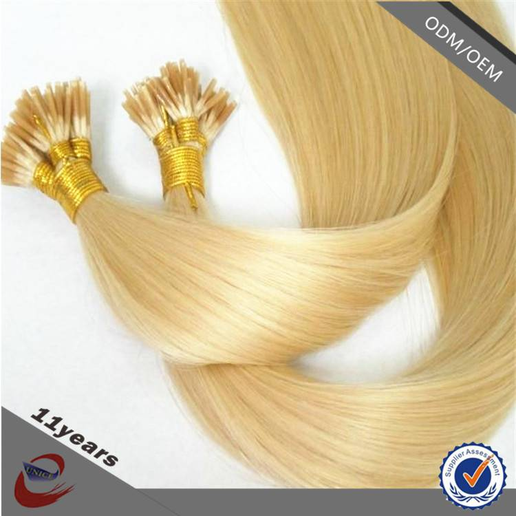 Hot Selling Top Quality Raw European Vigin Unprocessed Stick I Tip Hair Extension Wholesale