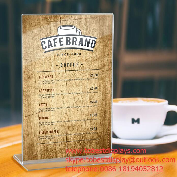 acrylic menu or poster holder sign display