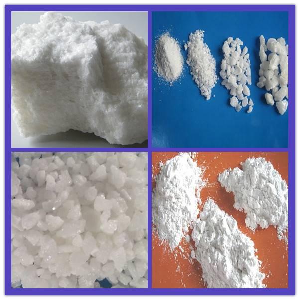 White aluminum oxide lumps, grits, powder