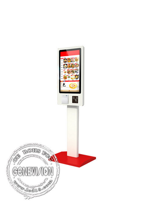 Order Payment Self Service Totem Touch Screen ,32 Inch 4k Floorstanding Pos Terminal Kiosk