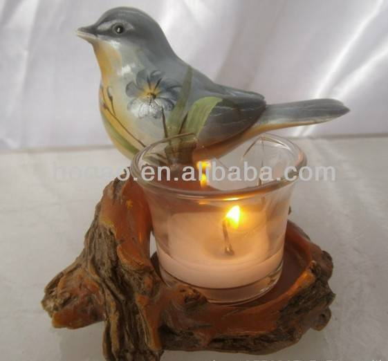 OEM resin candle holder for home decor , resin candle holder for sale