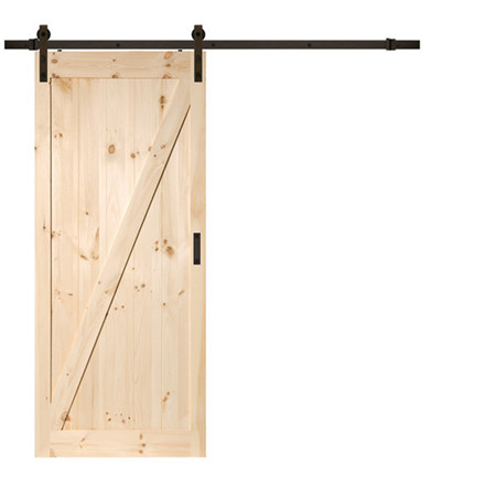 Unfinished Pine Bypass Barn Doors - Interior Solid Wood Pine Door