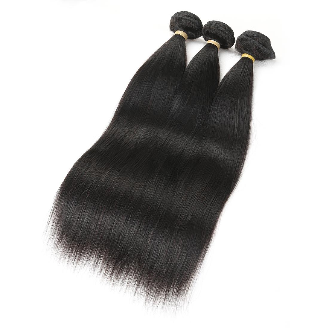 9A Indian Straight 4 Bundles Human Virgin Hair Weave