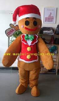 OISK Professional custom mascot costume gingerbread man mascot adult size
