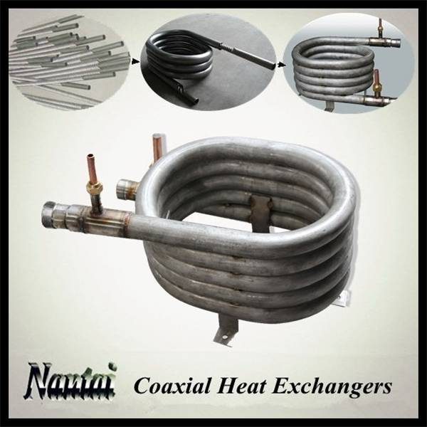 Ground Source Heat Pump Titanium Steam Heat Exchanger