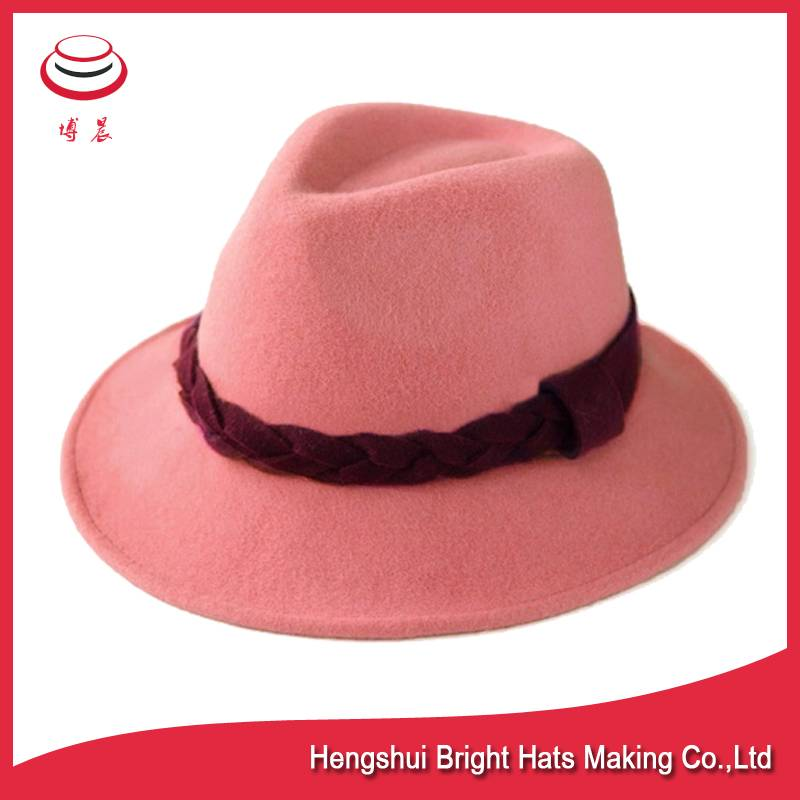 100% Fashion&cheap wool felt cloche/fedora hats for women