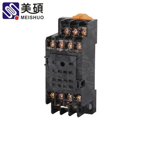 MEISHUO PYF14A socket 14pin embedded screw relay socket