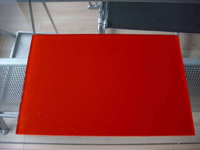 Red Painted glass/ Colored glass/Tinted glass 2mm to 6mm
