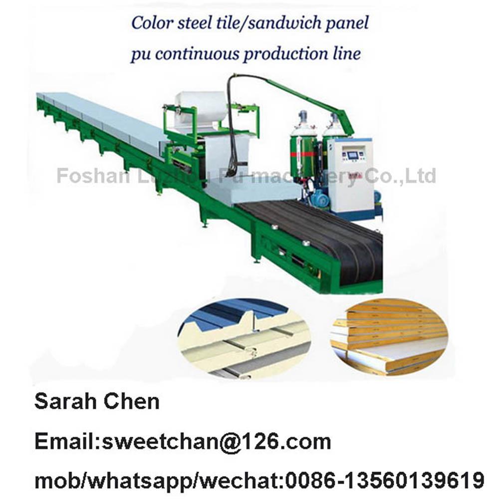 roof panel wall panel pu foam automatic production line