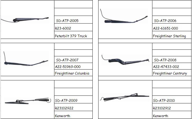 wiper blade and arm for truck