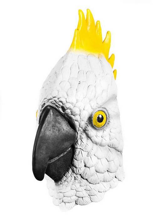 Youtumall Realistic Cockatoo Latex Full Mask Fancy Dress