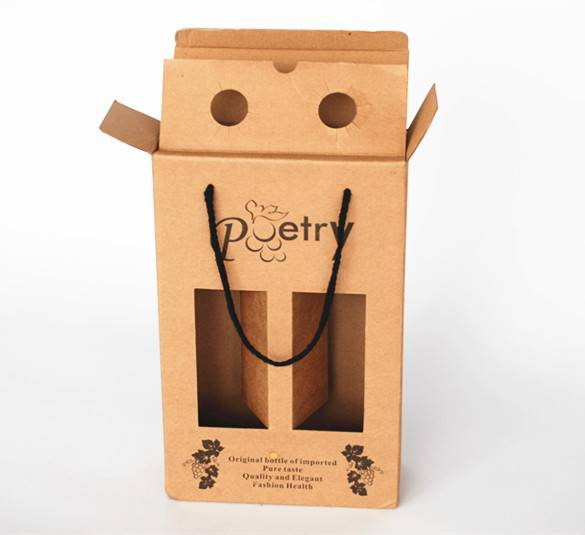 Chines supplier made wine packing paper box with high quality