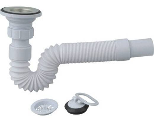 Sink Drainer, Available in Telescopic Pipe with Head, Includes Lever and Bowl