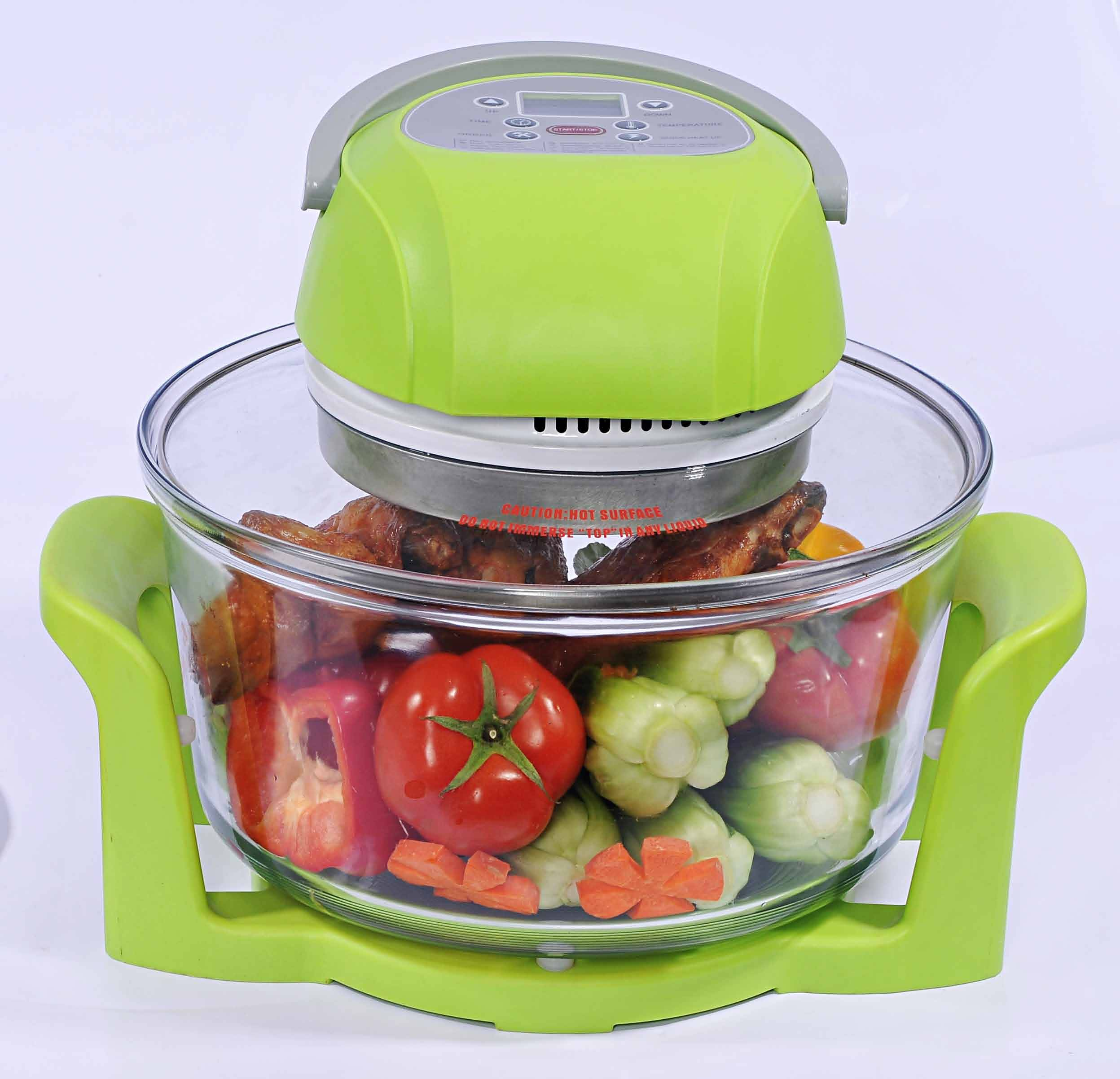 12L Multifunctional Digital Green Halogen Oven, CE/CB Approved, RoHS Directive-compliant KM-806B