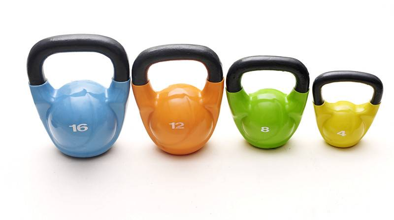 Vinyl coated  kettlebell with different clolors