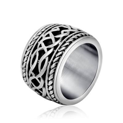 Wholesale stainless steel punk &Rock style rings for men