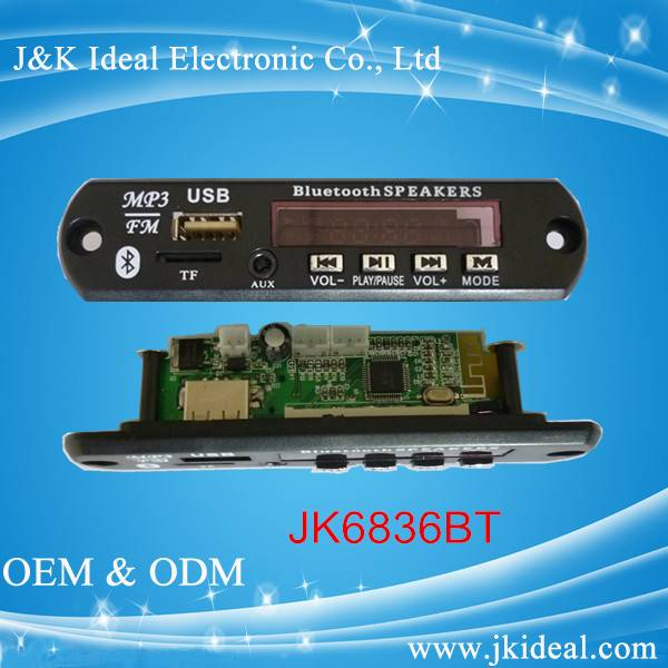 fm radio usb TF card bluetooth mp3 module