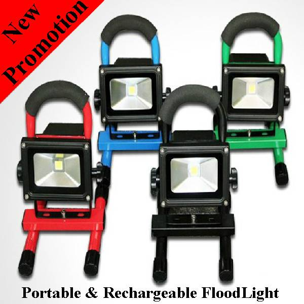 5W Cordless hand-carry rechargeable IP65 waterproof outdoor LED Flood light with battery