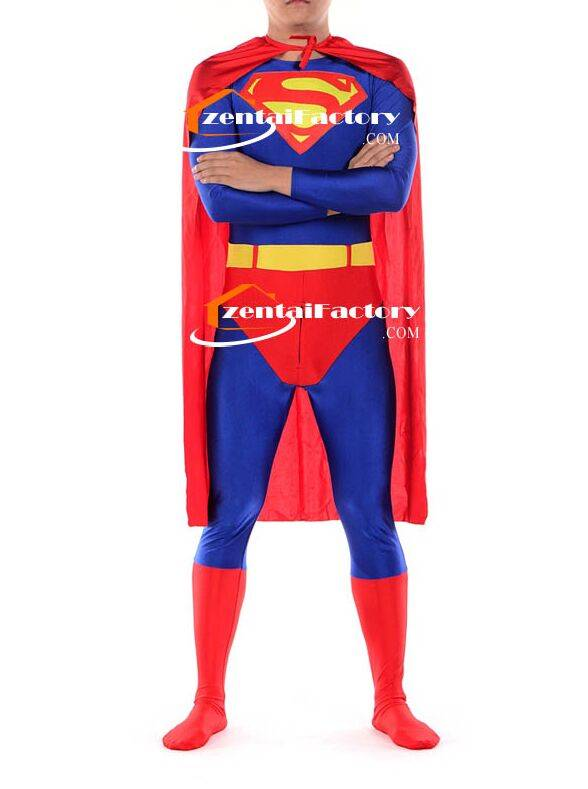 Spandex Superman Hero Costume