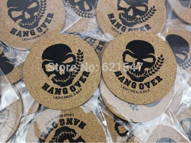 Free logo print FREE SHIPPING Round shape Plain Cork Coasters Drink Wine Mats Cork Mats 10cm*0.5cm i