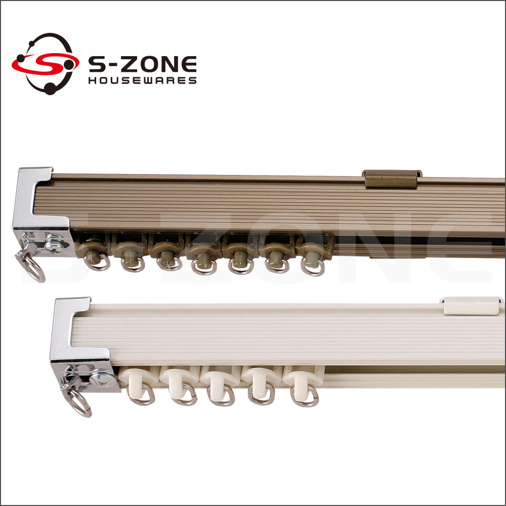 hardware curtain double track rail and pulley