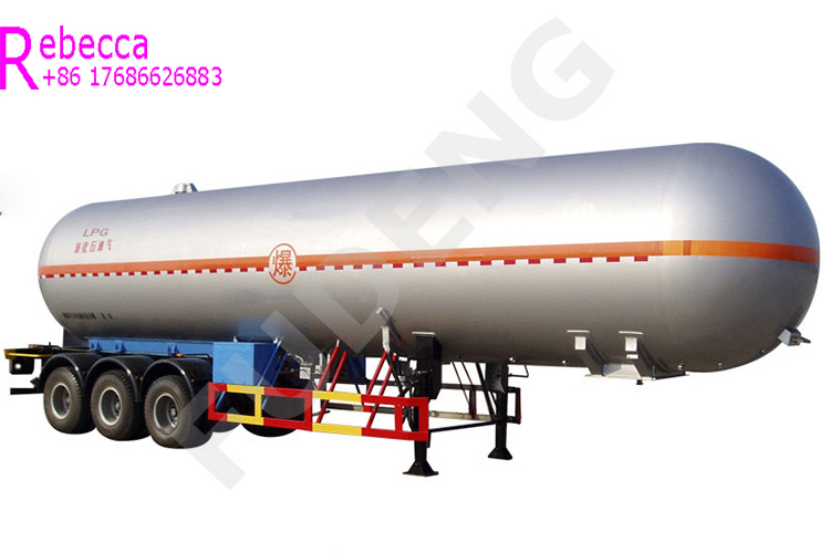 25 tons 59.7cbm lpg tank semi trailers lpg transport road tanker trailer