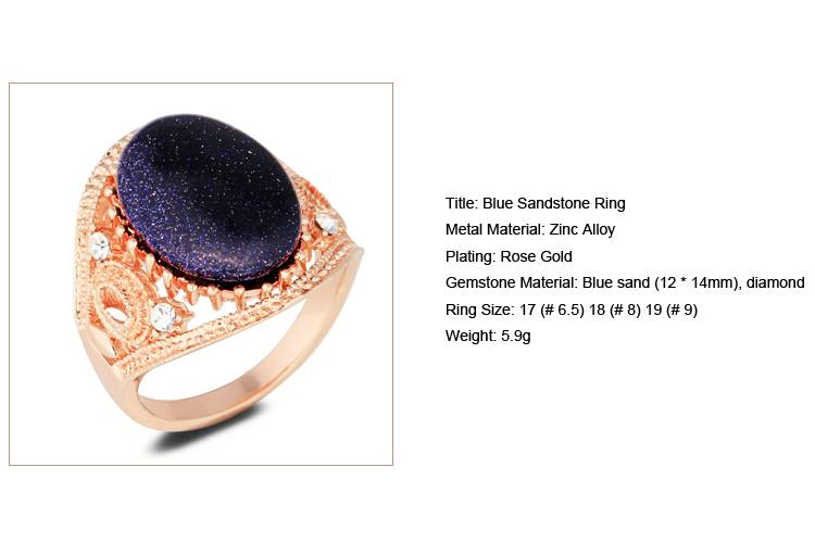 Blue Sandstone Ring /CT-R0003