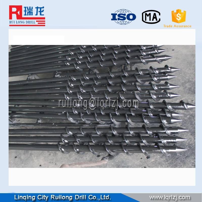twist drill pipe /spiral drill rod