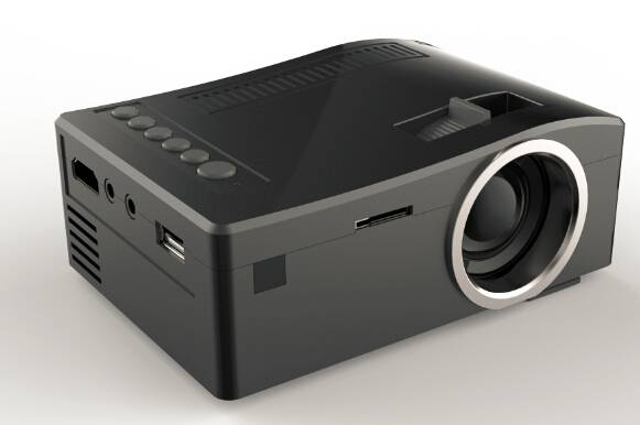 UNIC UC18 Mini LED LCD projectors with AV/USB/SD/VGA/HDMI micro USB, mobile power supply