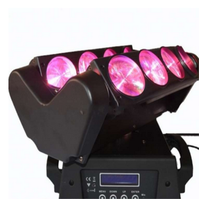 12W 8Eyes Spider LED Beam Moving Head Lights for club DJ show