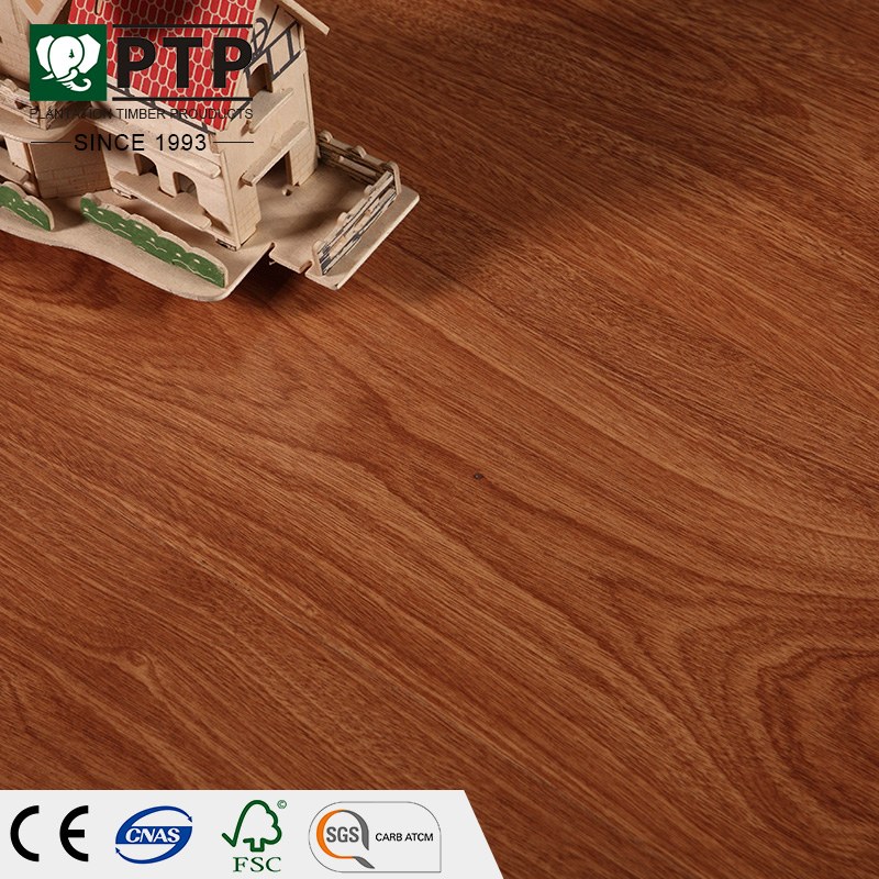 Germany Technology Classen Walnut Wood Dance Floor E0 12mm High Gloss Glitter Laminate Flooring With