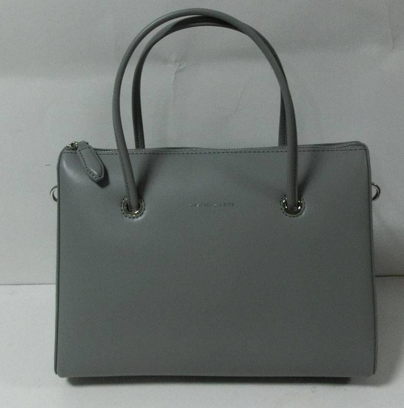 Gray PU leather handbag cute messenger bag