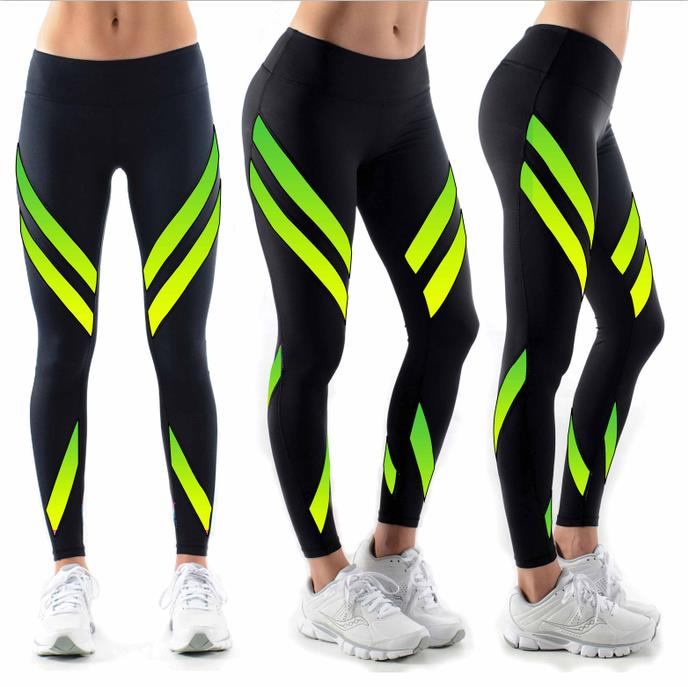 Wholesale Polyester Spandex Women Mesh Yoga Pants Sublimation