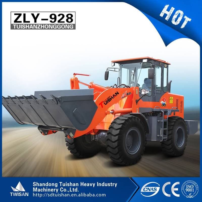 multi-function articulated 3ton wheel loader with low price and CE
