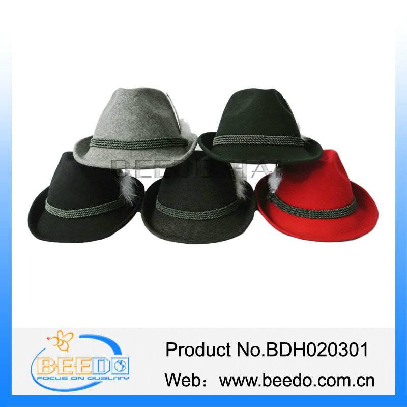 2015 hot sale wool alpine hats for men wholesale
