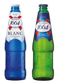 Kronenbourg 1664 blanc beer in blue 25cl / 33cl bottles