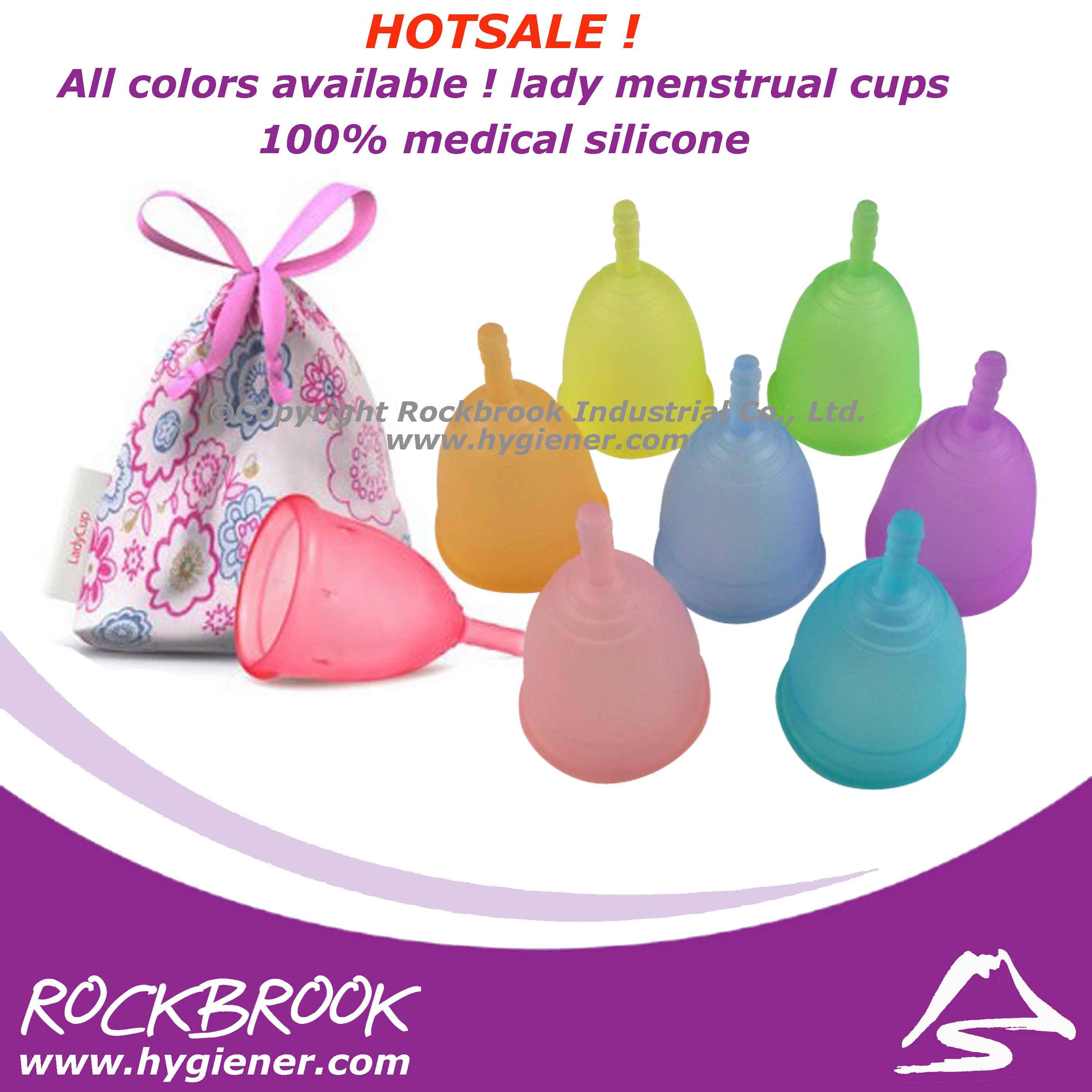 2013 HOTSALE! 100% platinum medical silicone lady menstrual cups,silicone soft cup