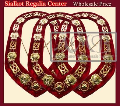 Masonic Chain collar Gold plated