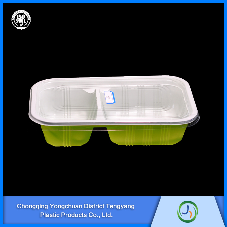 Environmental Thermoforming Plastic Tray For Fast Food Packing